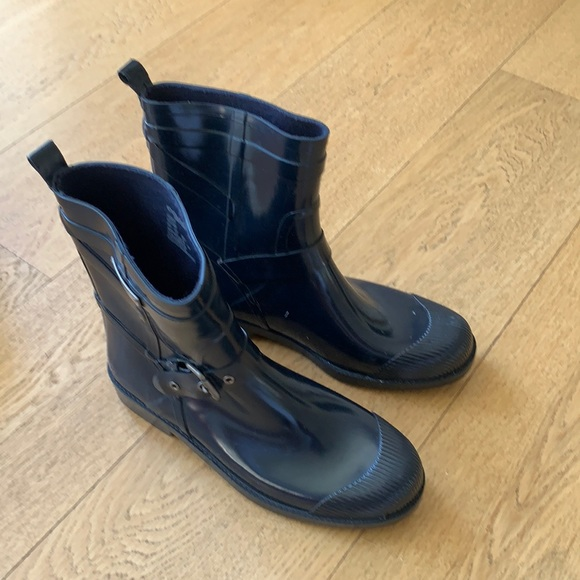 Coach rain boots navy women's size 10B